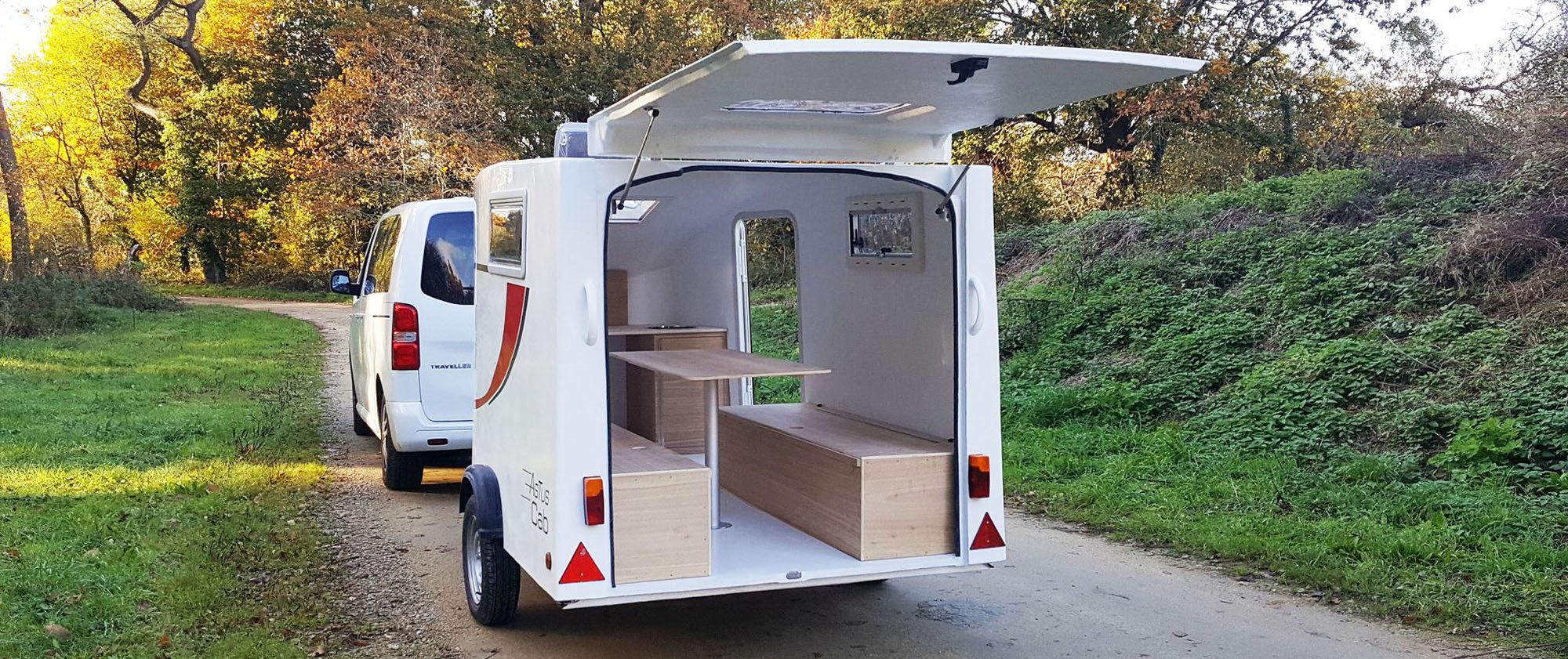 Astuscab : mini-caravane teardrop